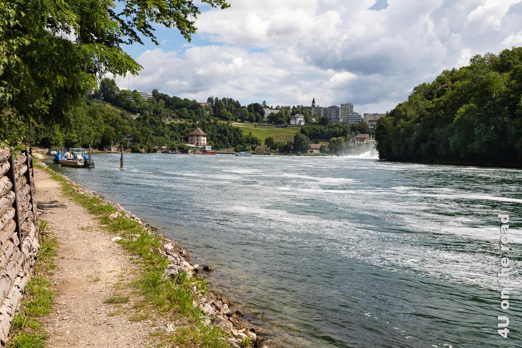 So langsam kommt der Rheinfall in den Blick