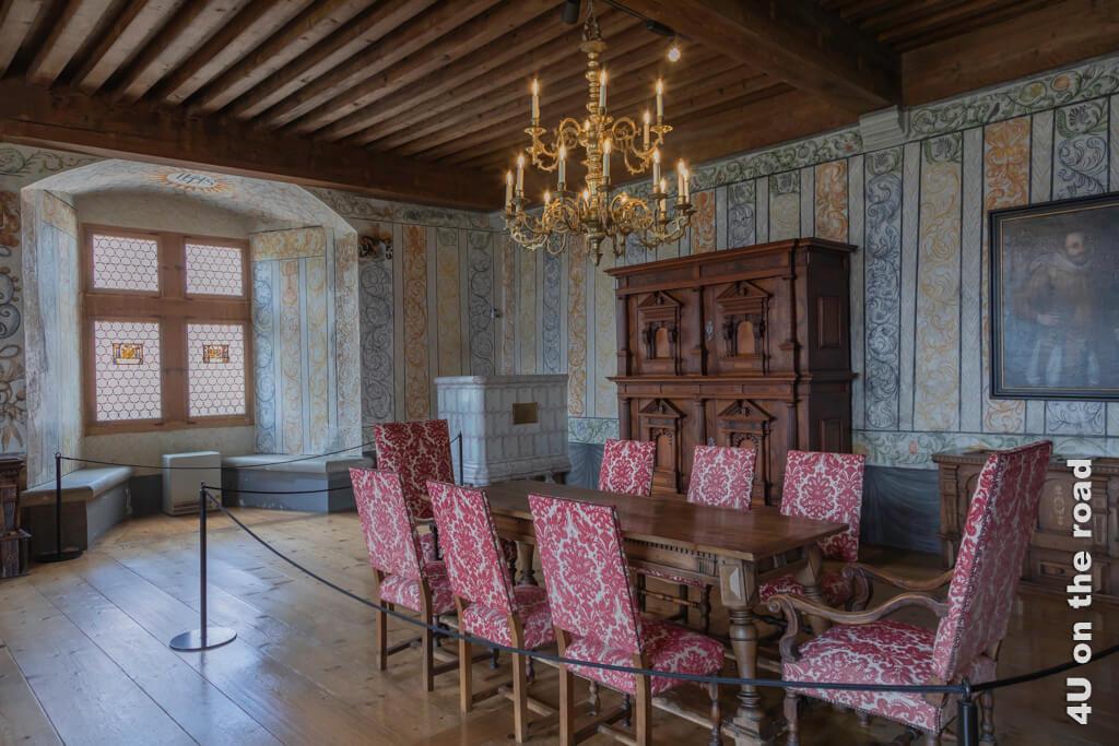 Saal der Landvögte im Schloss Gruyères