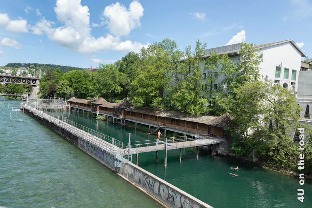 """Schwimmbad """"Untere Letten"""" - Entlang der Limmat auf dem Kloster-Fahr-Weg"""