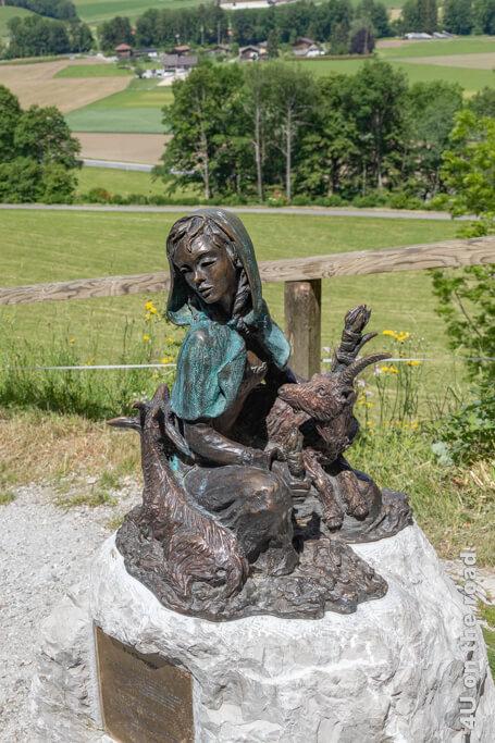 Bronze der Ziegenhirtin - Gruyères