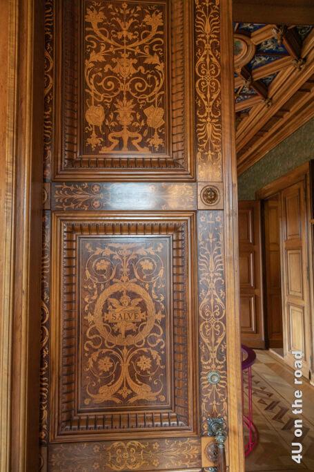 Verbindungstür zwischen Herrenzimmer und Esszimmer
