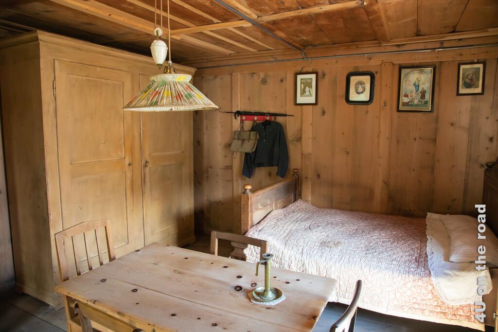 Wohnstube in der Casa Tomé, Poschiavo