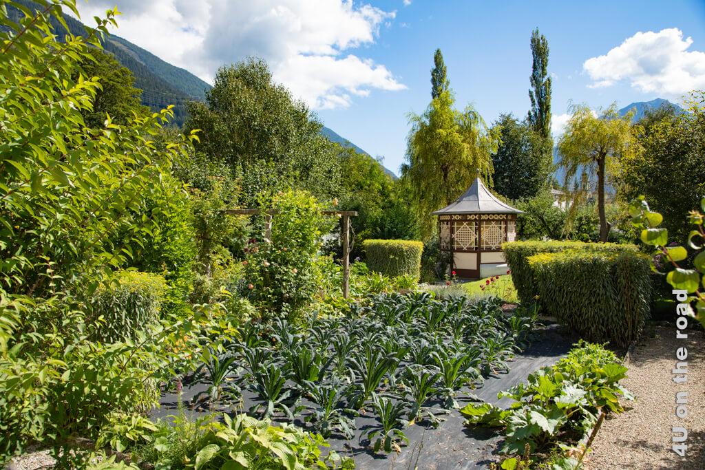 Manche der Gärten sind bis heute liebevoll bewirtschaftet. - Gärten zu den Häusern der Zuckerbäcker in Poschiavo