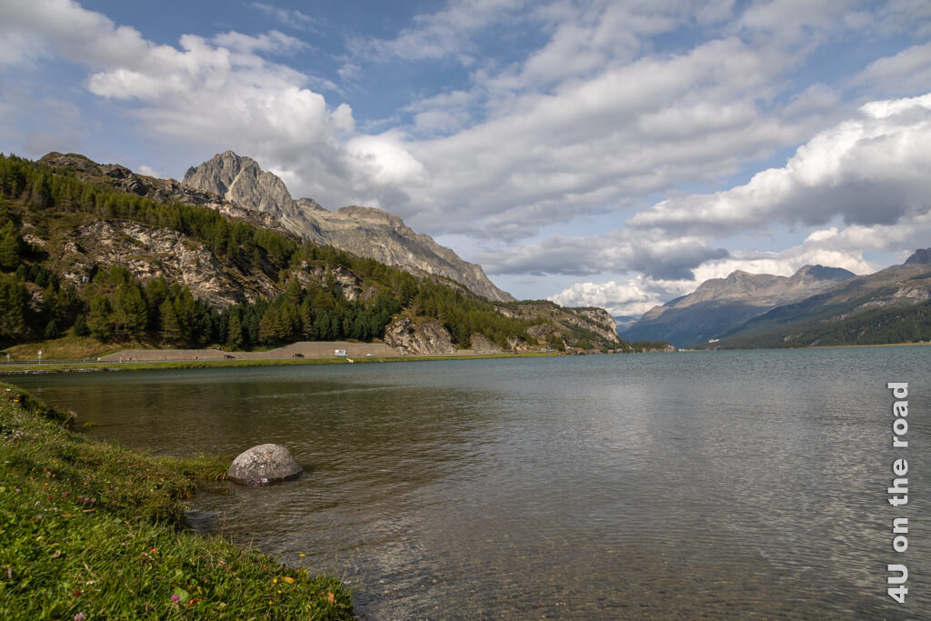 Blick über den Silsersee von Maloja aus