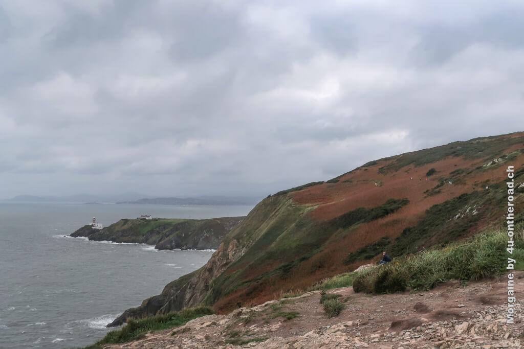 Auf der Spitze seht ihr das Baily Lighthouse - Howth Halbinsel