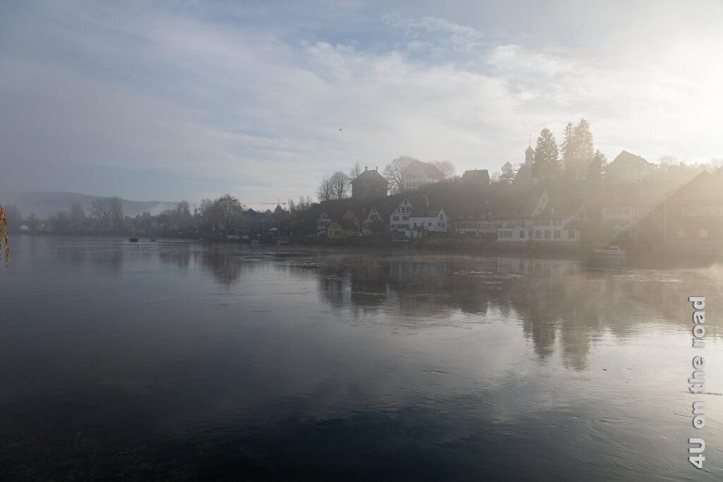 Einzigartige Stimmung aus Sonne, Wolken und Nebelfetzen - Stein am Rhein