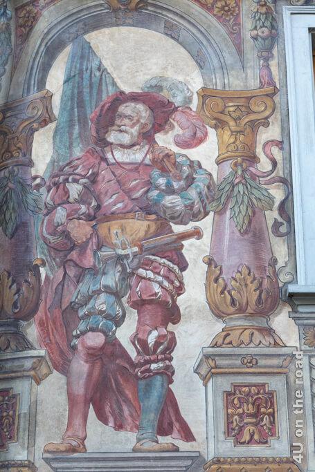 Fassadenmalerei am Rathaus von Stein am Rhein