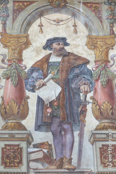 Auch dieser Herr ziert das Rathaus Stein am Rhein