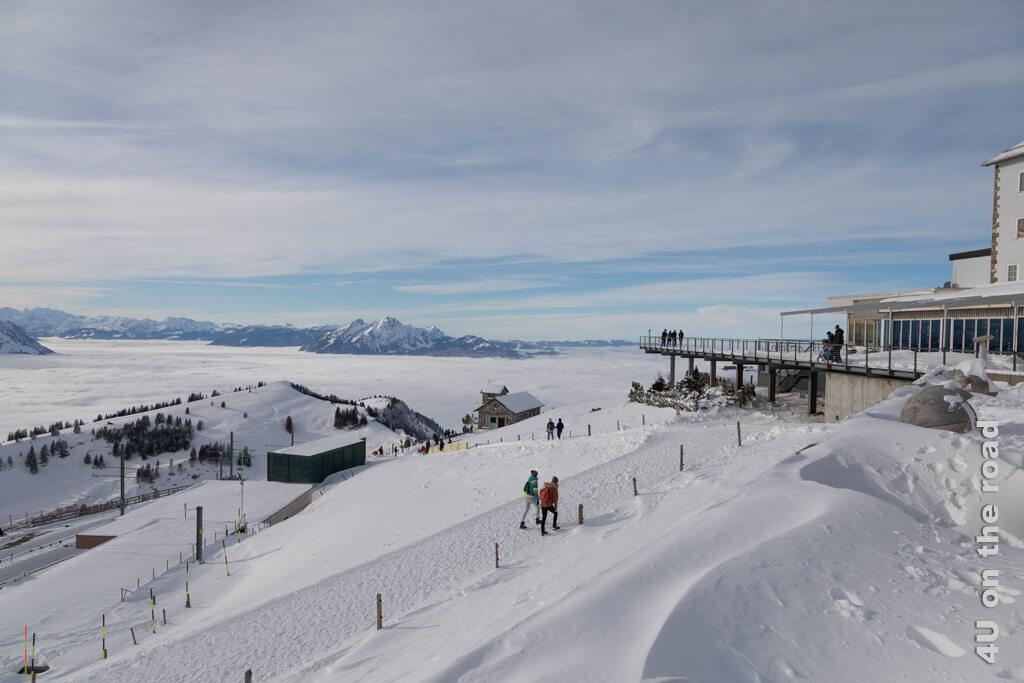 Die Aussichtsterrasse des Rigi Kulm Hotels.