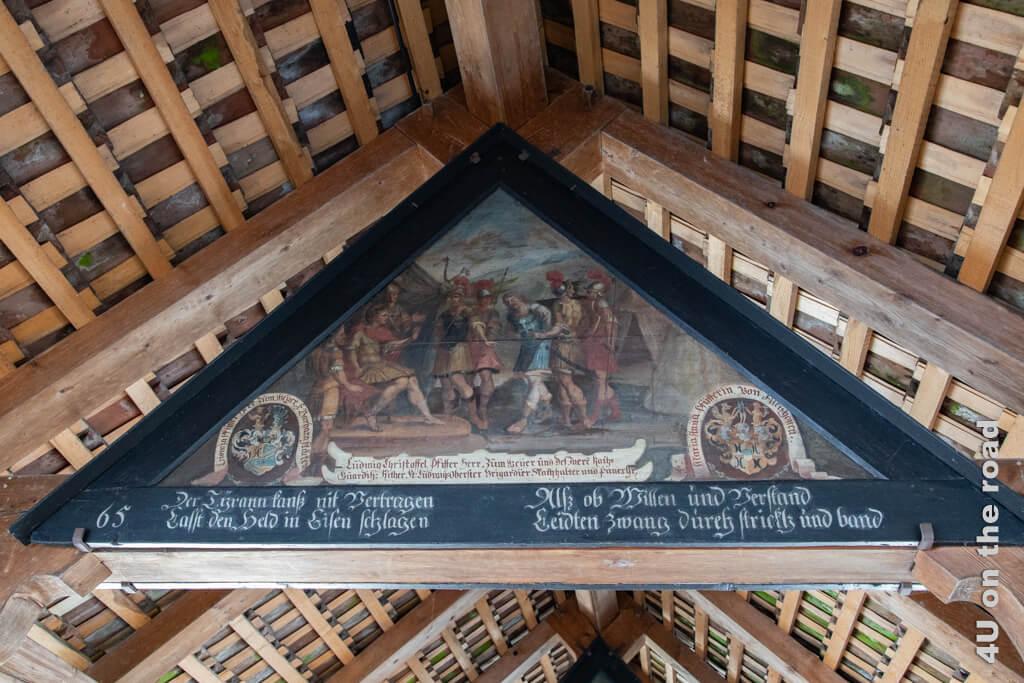 Die Thebäer weigern sich dem christlichen Glauben abzuschwören. Secundus wird verhaftet - Bild, Kapellbrücke - Sehenswürdigkeit von Luzern