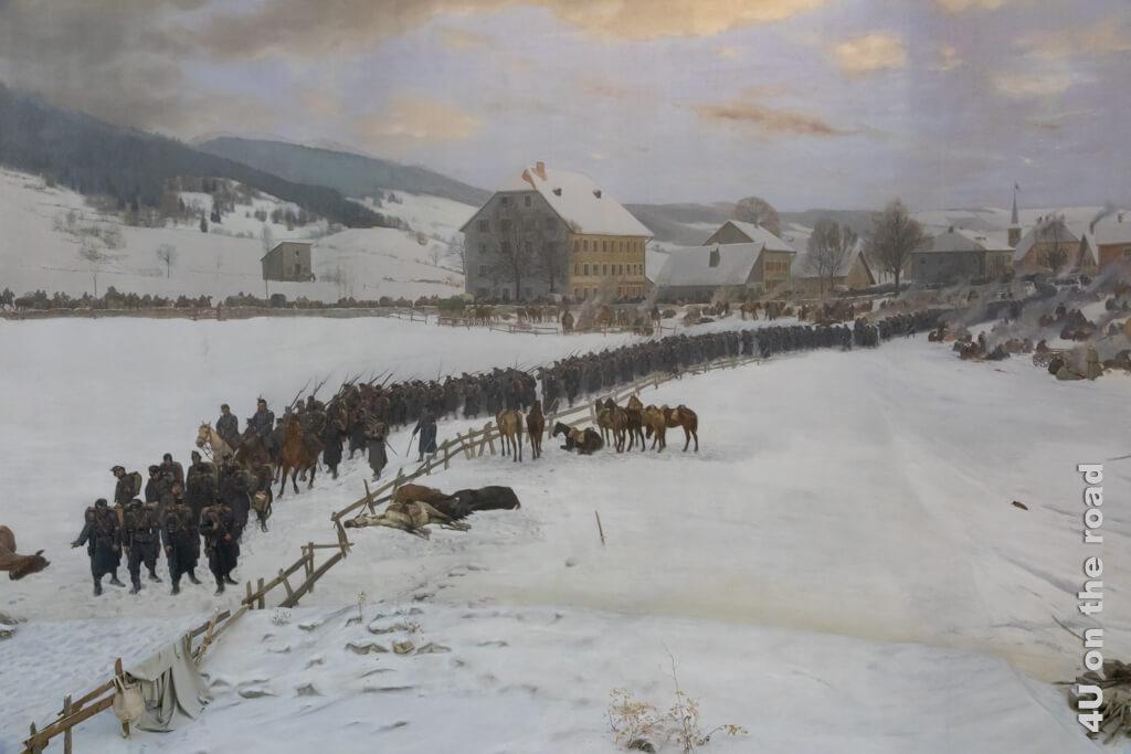 Einmarsch der französischen Armee bei Les Verrières - Bourbaki Panorama 1881