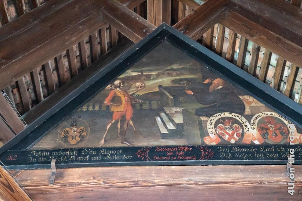 Der Astrologe - Totentanz-Zyklus auf der Spreuerbrücke - Sehenswürdigkeiten von Luzern