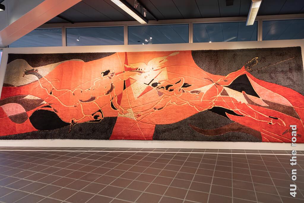 """Wandteppich """"Der Brief"""" von Hans Erni - Verkehrshaus"""