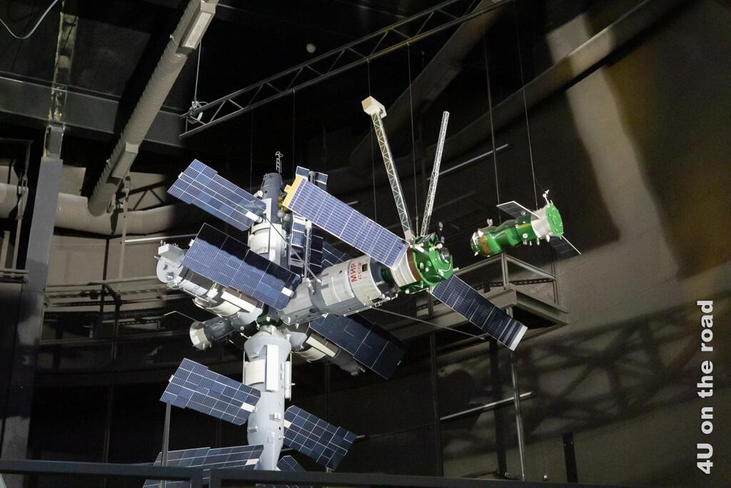 Ein Modell der Raumstation Mir