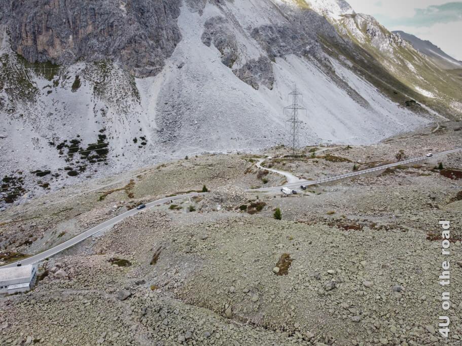 Die Festung Albula befindet sich in der Mitte des Bildes.