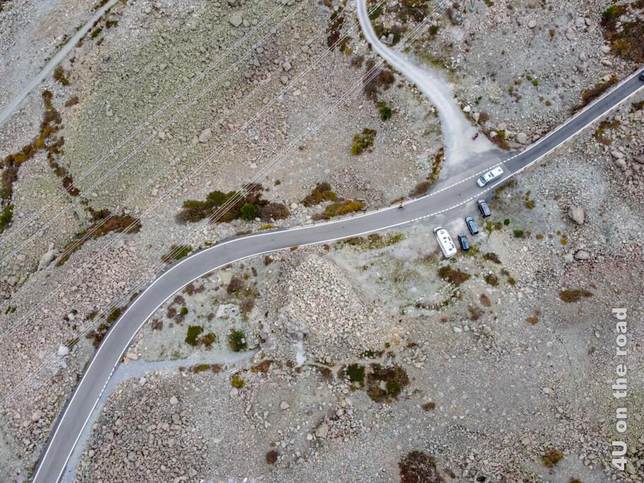 Bereits aus einer Höhe von 60 m ist die Festung Albula aus der Luft kaum noch zu erkennen.