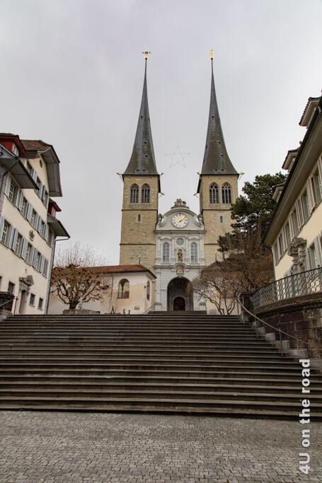 Die Hofkirche - Sehenswürdigkeit von Luzern