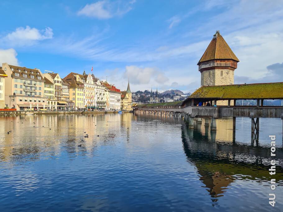 Kapellbrücke und Wasserturm - Sehenswürdigkeit von Luzern