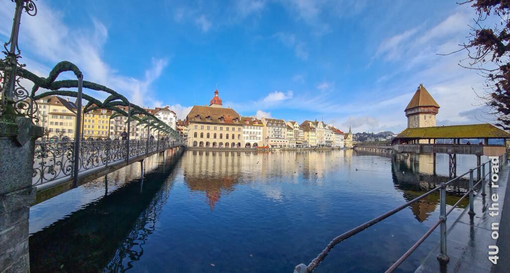 Kapellbrücke und Rathaussteg - Sehenswürdigkeiten von Luzern