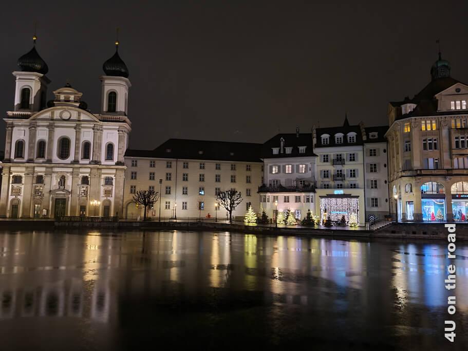 Jesuitenkirche bei Nacht - Luzern