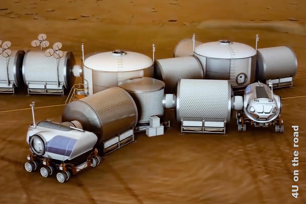 So könnte eine Siedlung auf dem Mars aussehen