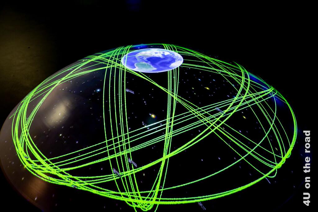 Satelliten umkreisen die Erde auf einer bestimmten Umlaufbahn - Verkehrshaus