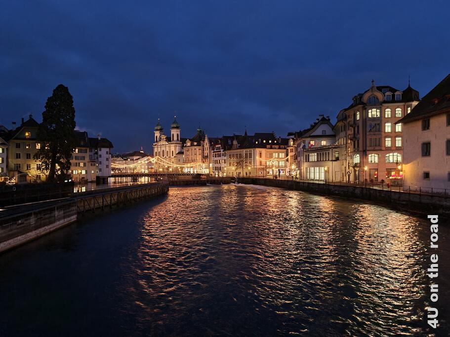Abendlicher Blick von der Spreuerbrücke