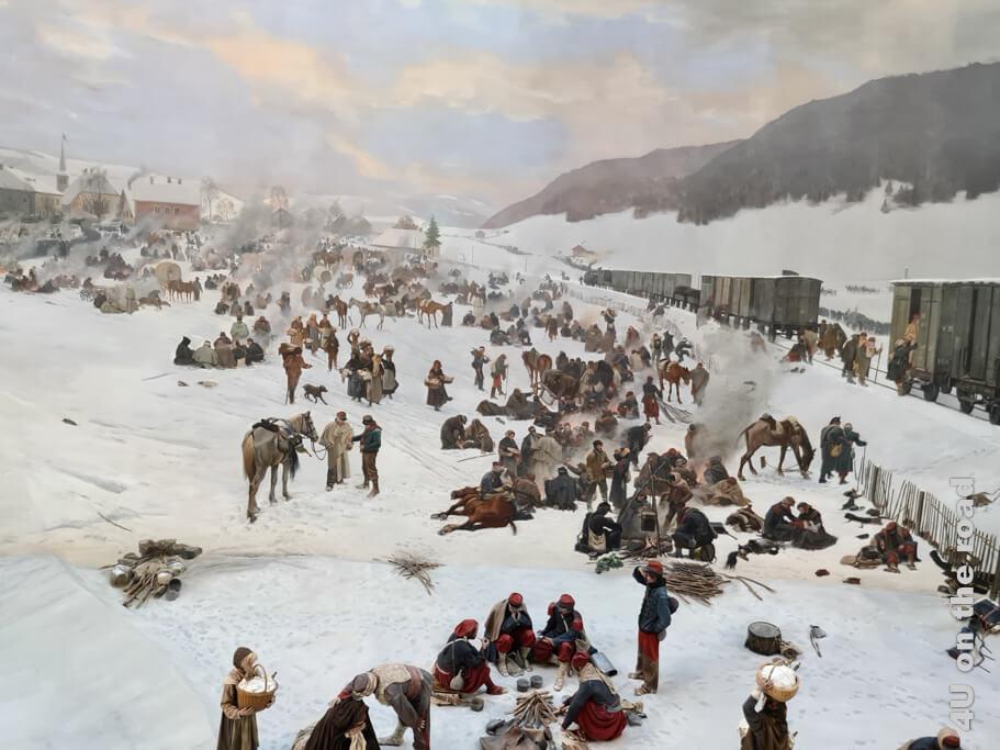 Bildausschnitt aus dem Bourbaki Panorama - Übersicht Museen in Luzern