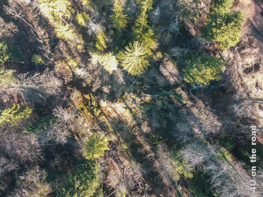 Die Tüfels Chilen kann man mehr in der Mitte des Bildes ahnen, als sie aus etwas grösserer Höhe wirklich zu erkennen.