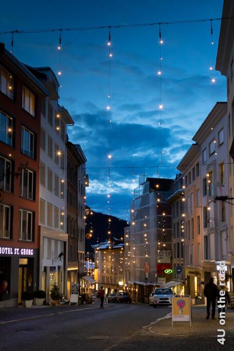 Weihnachtsbeleuchtung in Einsiedeln