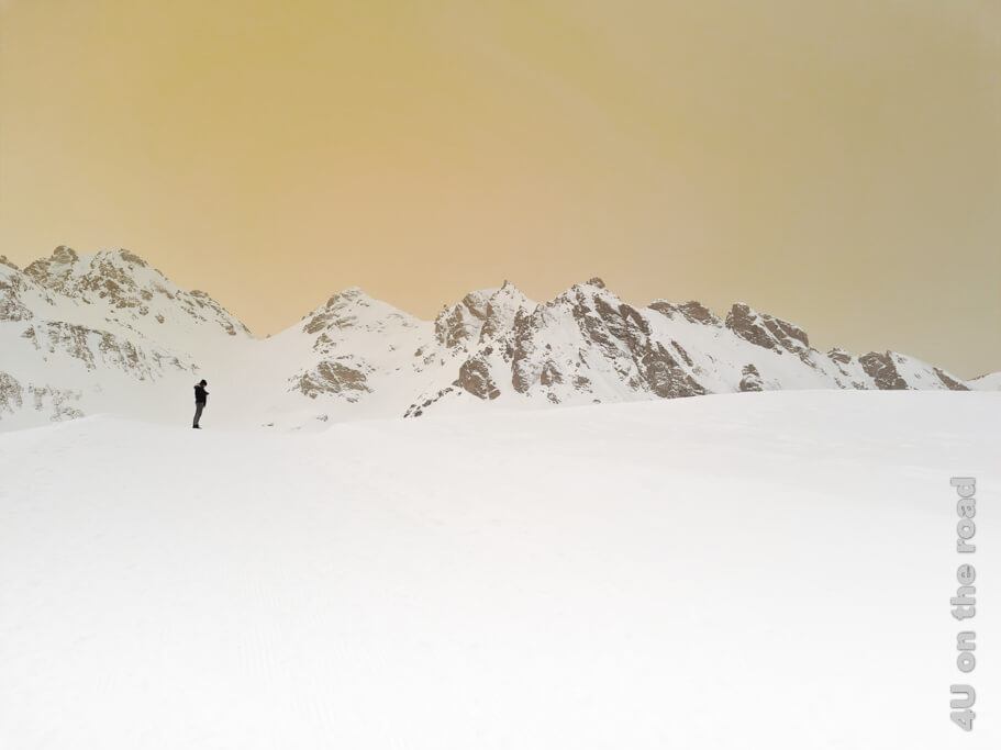 Dies ist mein Lieblingsbild auf dieser Winterwanderung auf dem Pizol.