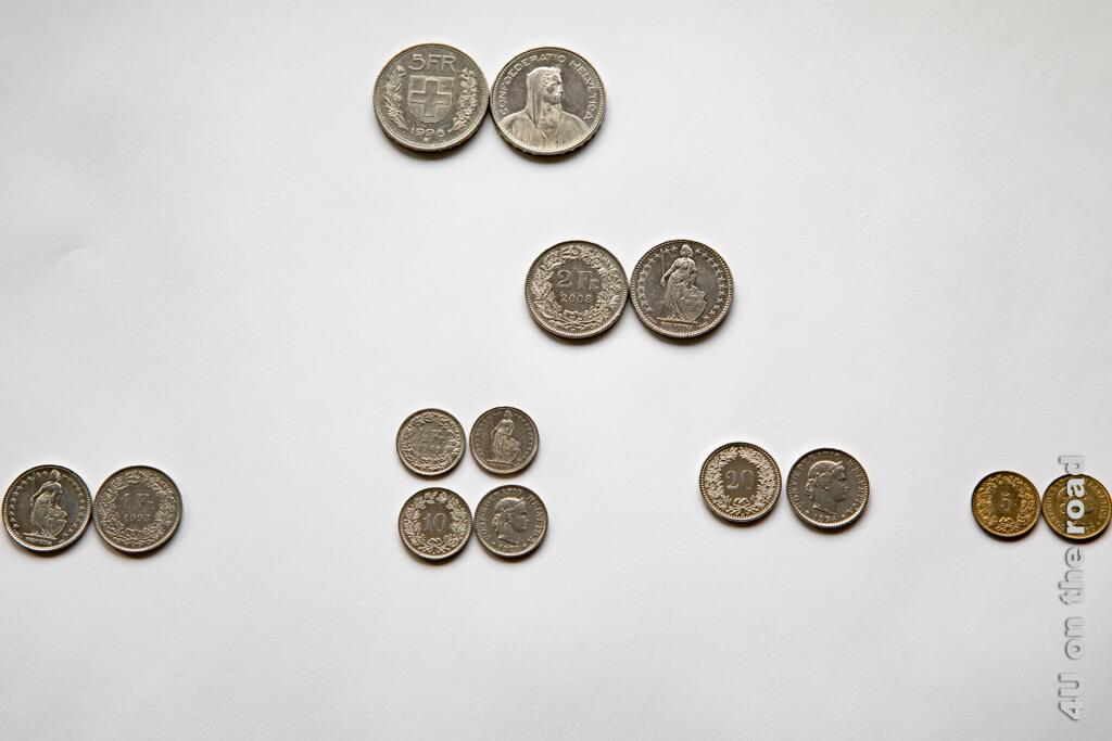 Die 2 Franken Münze braucht man für die Einkaufswagen im Supermarkt. Viele Wagen können aber auch mit einer 1 Franken Münze benutzt werden. - Zahlungsmittel Schweiz