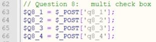 Antwort Variablen für reine Multi-checkbox-Frage - Umfrageseite selbst bauen in WordPress