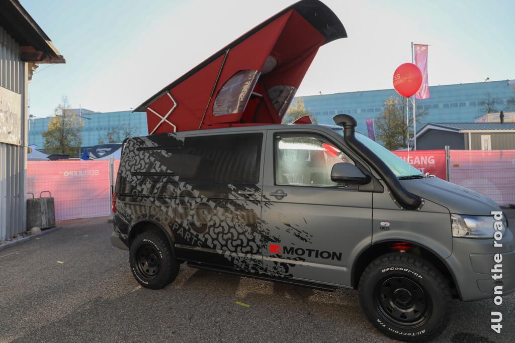 Dies hier ist eine sportliche Variante eines Campingbusses. - Ein Wohnmobil kaufen - alles was ihr wissen müsst.