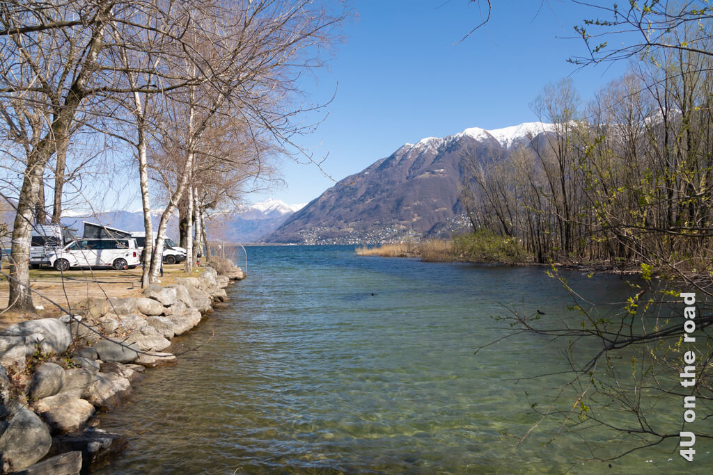 Delta Camping Locarno - Plätze am See-Einschnitt