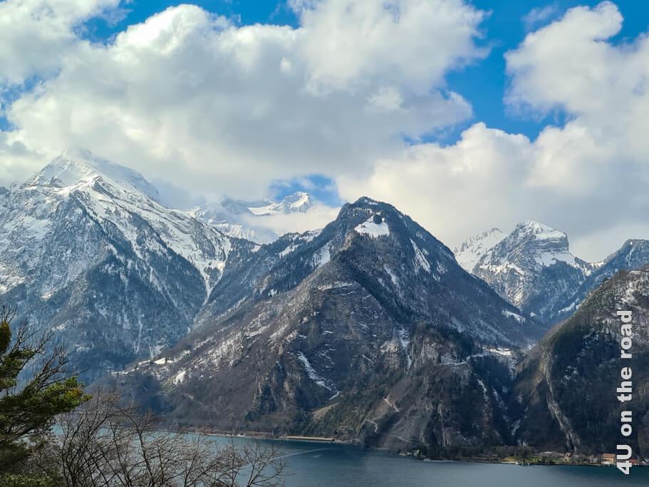 Kurze Pause am Vierwaldstättersee. - Wohnmobiltour in den Süden der Schweiz
