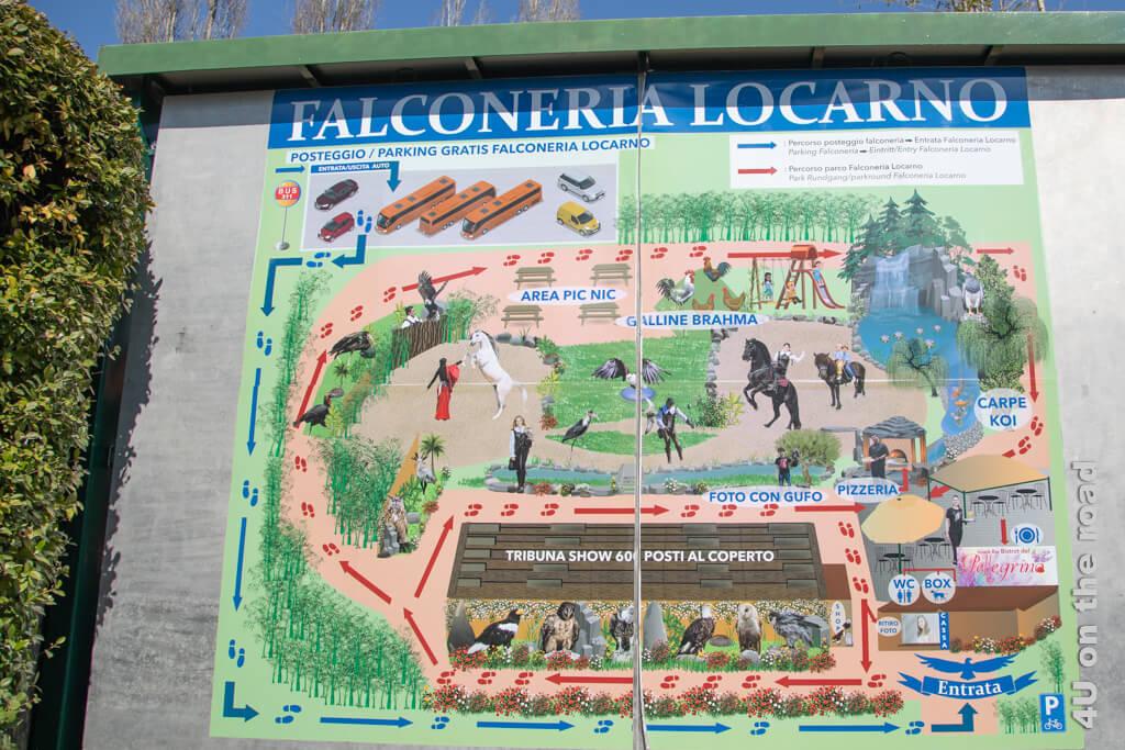 Situationsplan Falconeria Locarno