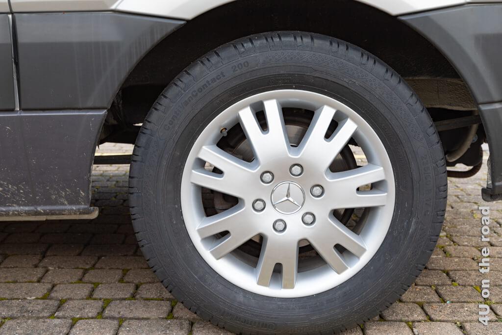 Das sind jetzt die Original Mercedes Felgen mit entsprechenden Reifen.