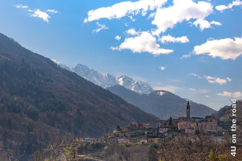 Intragna mit dem höchsten Kirchturm im Tessin - Centovalli