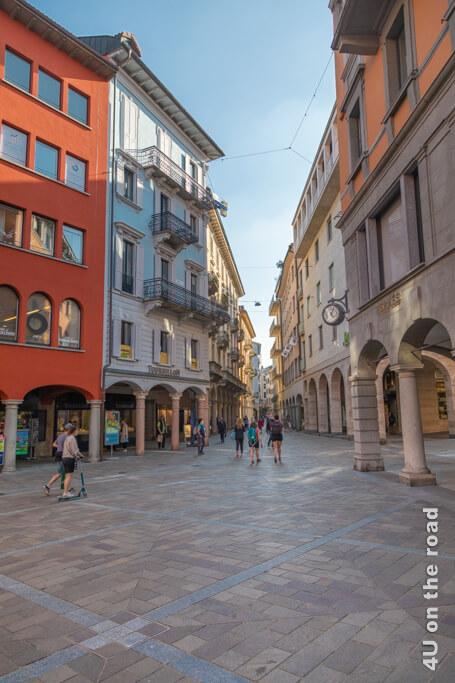 Durch Lugano zu bummeln, macht richtig Spass.