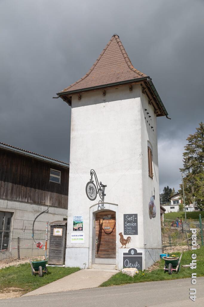 Hier kann man sich mit Bauernhofprodukten in Muriaux eindecken. - Startpunkt zur Wanderung auf den Sommêtre Grat