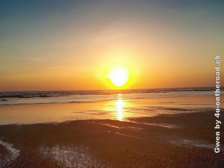 Sonnenuntergang am Playa Guiones