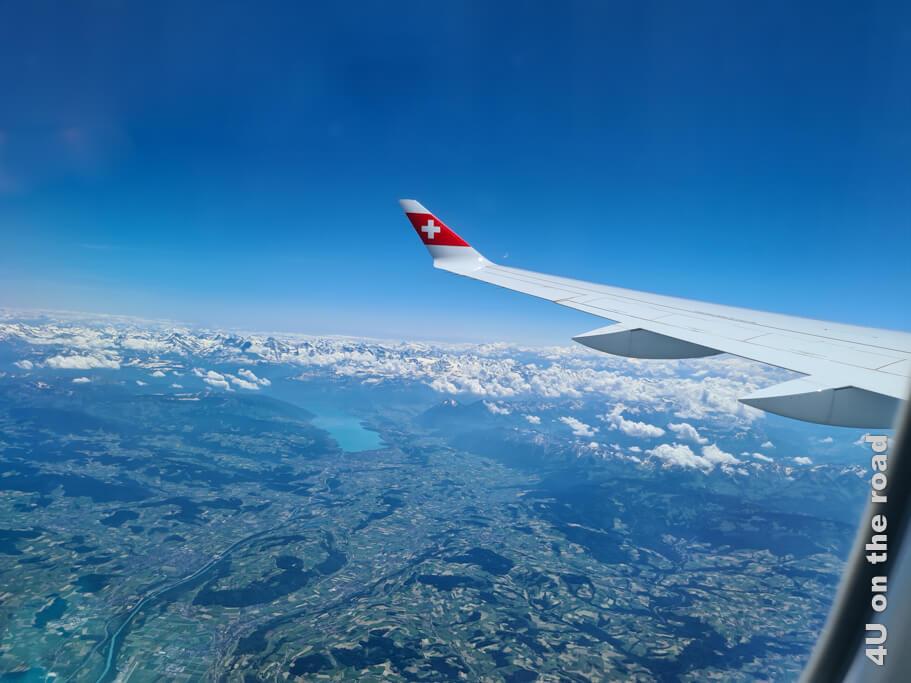 Unser Anreisetag ist perfekt, wie die Sicht aus dem Flugzeug.