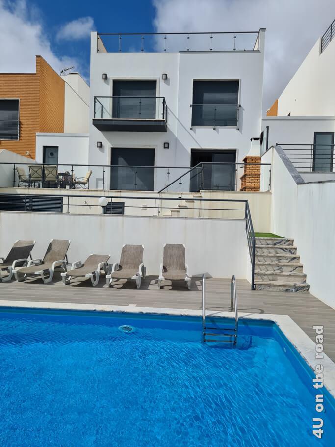 """Die Sunset Paradise Villa - unsere """"home base"""" in der zweiten Woche unserer Portugal Rundreise mit Mietwagen."""